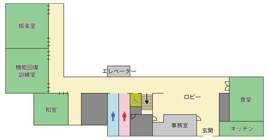 門真市立  老人福祉センター 1F